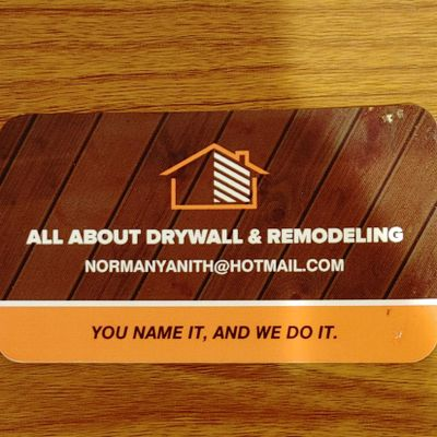 Avatar for All about drywall and remodeling