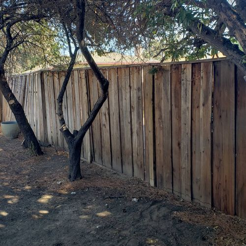 replacement of old fence Antioch