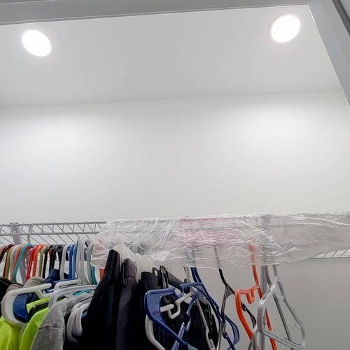 New LED Recessed lights in closet
