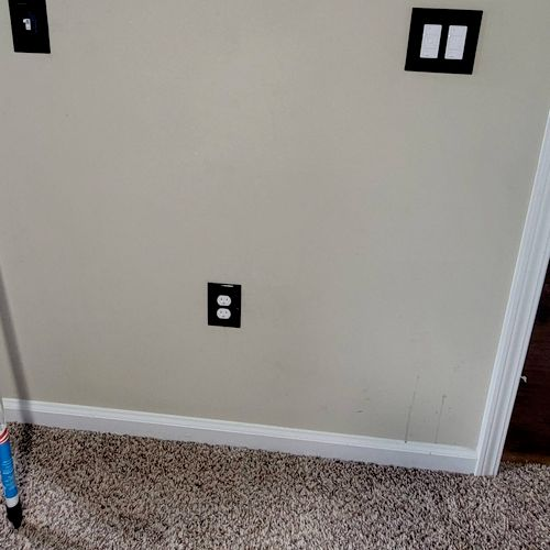 Two new outlets with a new switch for closet lights & a upgraded dimmer light switch with fan speed selector
