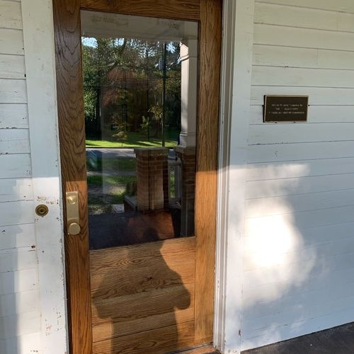 White Oak Door for Colonial House