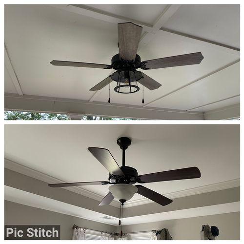 New ceiling fan installation