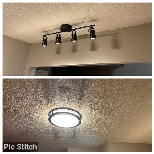 Replaced old kitchen lighting with led lights