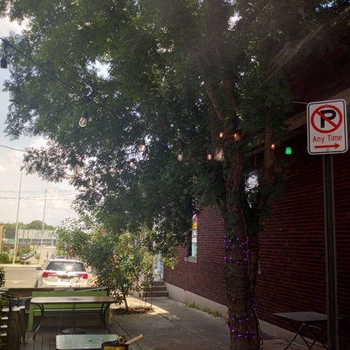 restraunt patio lighting