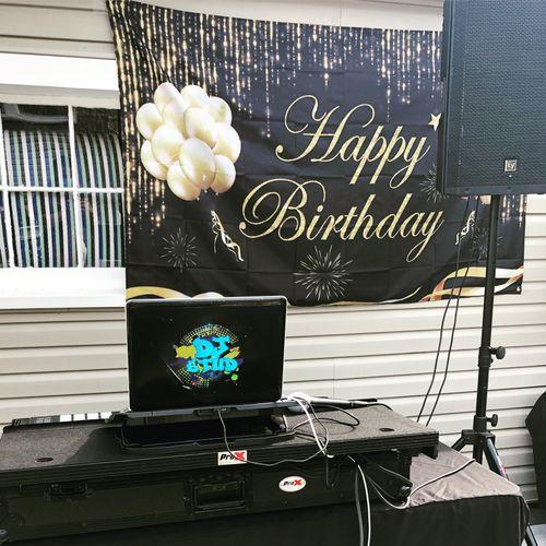 Birthday Party at a back yard!
