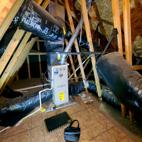 Attic Furnace was not standing flame with no flame sensor issue