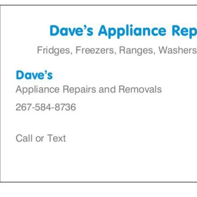 Avatar for Dave's Appliances