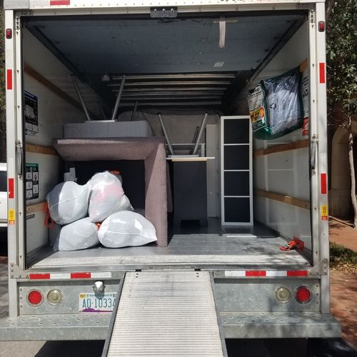 Our 15ft box truck is a beast.  Best used for single bdrm, medium size deliveries