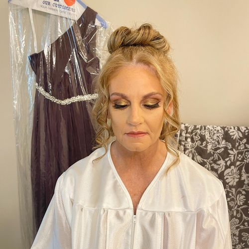 Hair and makeup for my maid of honor