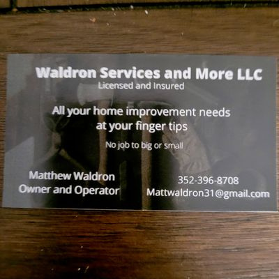 Avatar for Waldron Services and More L.L.C