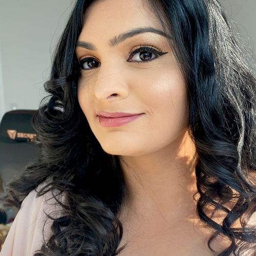 Hair and makeup natural glam 💕