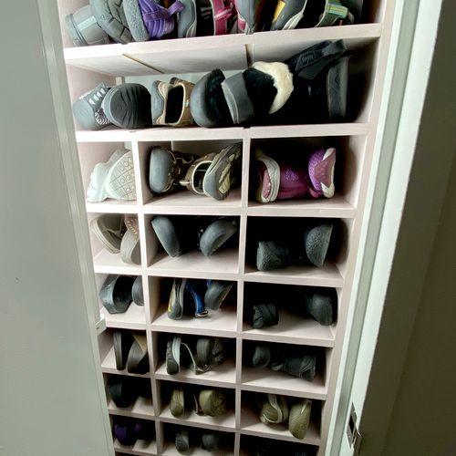 Bespoke custom shoe closet