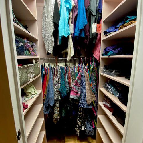 Custom-made walk-in closet