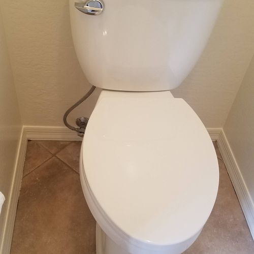 installed a ADA compliant toilet and replaced valve