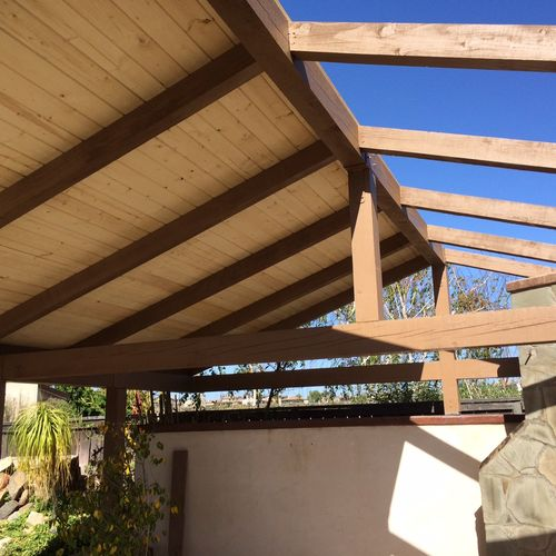 6x8 beams 4x6 rafters 1x6 tong and groove sheating