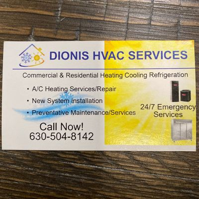 Avatar for DIONIS HVAC  SERVICES