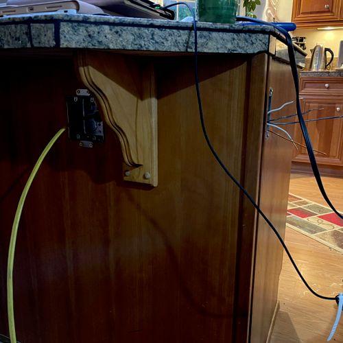 Addition of 2 Duplex Receptacles on kitchen island