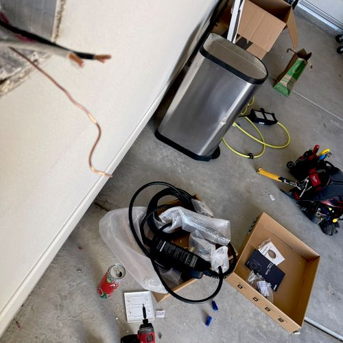 Electric Vehicle Charger install