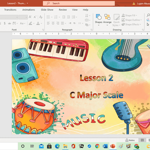 Online Piano teaching sample.