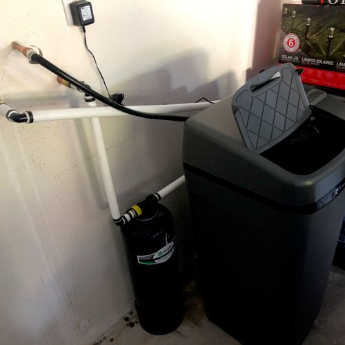 Whole house filter & water softener