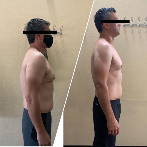 In 2 months my client has lost weight and improved his posture. When are you committed to getting started?