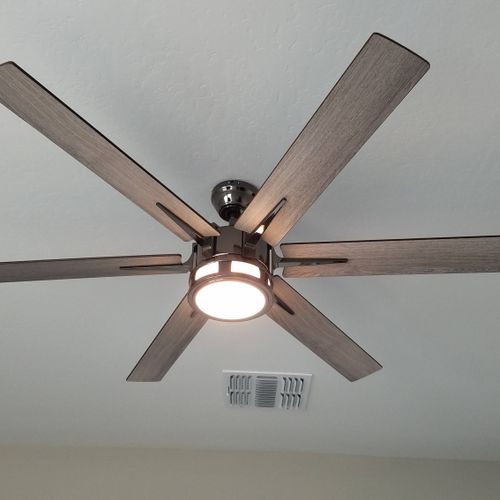 installed 4 of these remote controlled ceiling fans in a new construction home