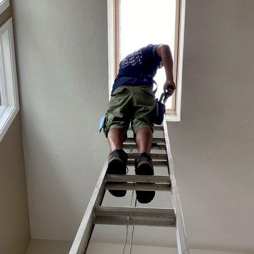 Indoor skylight cleaning