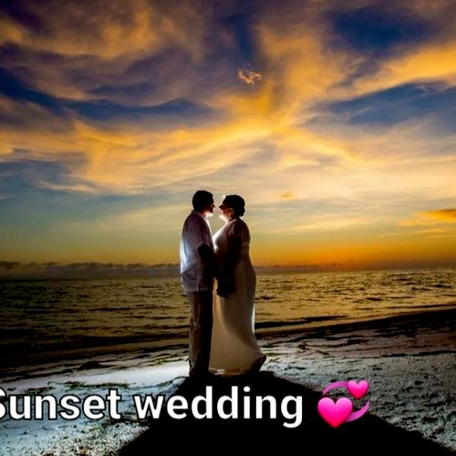 Sunset Wedding I prepare everything for you ask me how?