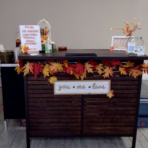 """Bridal Shower """"Fall In Love"""" theme, so I matched my decor accordingly.  Clients loved it!!"""