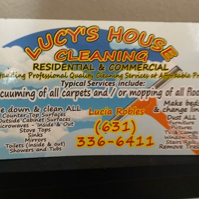 Avatar for Lucia's house and office clean service