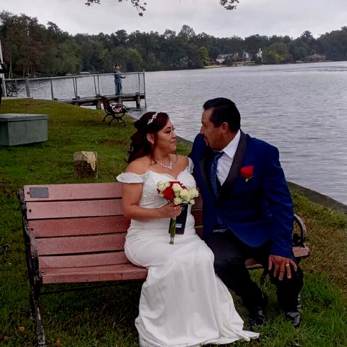 CONGRATS TO ECTOR AND LOURDES!!! 10/10/21 Hammonton Lake  Ceremony Performed By Nicolle 🎊