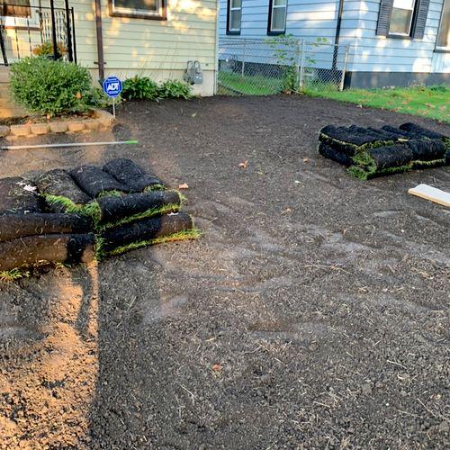 Before sod installation
