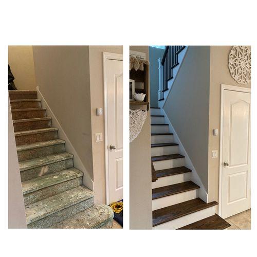 Stair remodel 10/11/21