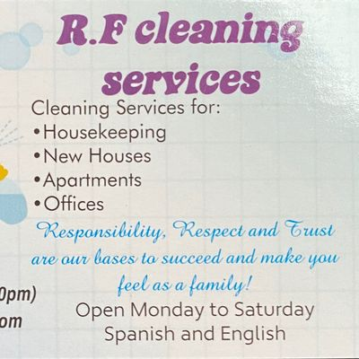 Avatar for R&F cleaning services