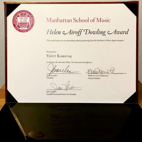 Outstanding Achievement Award in Music