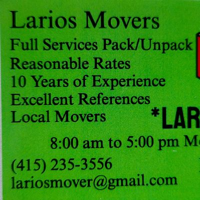 Avatar for Larios Movers