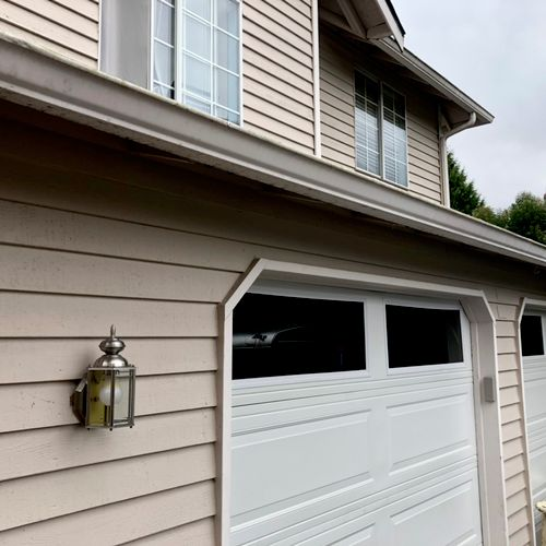 Gutter repairs: After. Swipe —> for Before