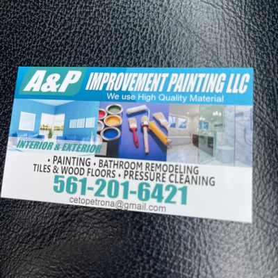 Avatar for A&P IMPROVEMENT PAINTING LLC