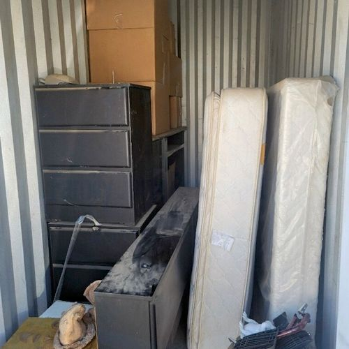 Storage clean up, Furniture and Box spring removal.